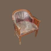 Старинное кресло, кабинетное, для письменного стола